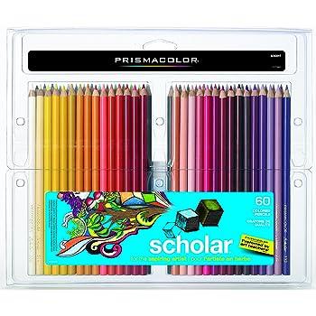 Prismacolor 92808HT Scholar Colored Pencils, 60-Count