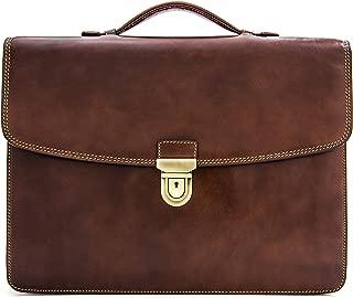 Tony Perotti Italian Leather Alfero Single Compartment Document Briefcase