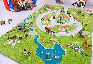 Little Helper 3D Childrens Play Rug in Fun Farm Design, Multicoloured (100 x 150 cm)