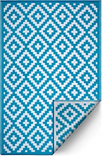Best outdoor rug teal Reviews