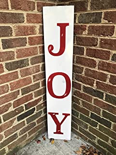 Outdoor Christmas Decor - Porch Signs - Front Porch Decor - Holiday Sign - Joy Sign - Christmas Sign