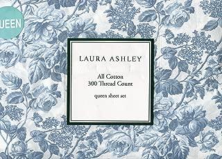 Laura Ashley Crawford Blue Sheet Set, Queen Size