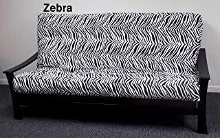 Royal Sleep Products Memory Foam Futon Mattress Upholstery Cover Factory Direct F/Q Zebra Print (Full, Zebra)