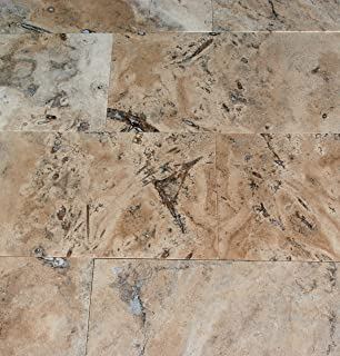 Crema Latte Travertine 12X24 Filled and Honed Tiles - Premium Quality (SAMPLE)