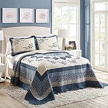 Modern Heirloom Collection Charlotte Bedspread, King, Blue