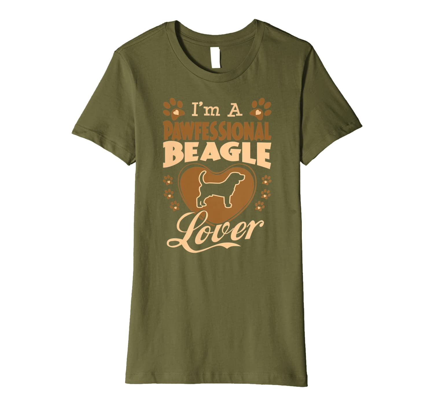 Pawfessional Beagle Dog Lover Valentine Gift Premium T-shirt - Store Tshirt