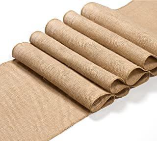 EleganceWay Burlap Table Runner 12 x 108 Inches Long | Rustic Table Runner roll | True 100% Organic Jute Table Runner Wedding Decoration - Dining Table Runner Roll Kitchen Easter Thanksgiving