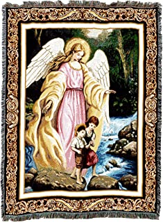 Pure Country Weavers Christian Funeral Gifts, Kids Guardian Angel Blanket, Memorial Sympathy Gift & Bereavement Gift for Loss of Mother, Father or Loved One – Healing Thoughts Funeral Blanket (72x54)