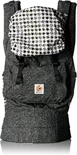 Ergobaby Original Award Winning Ergonomic Multi-Position Baby Carrier with X-Large Storage Pocket, Black Twill
