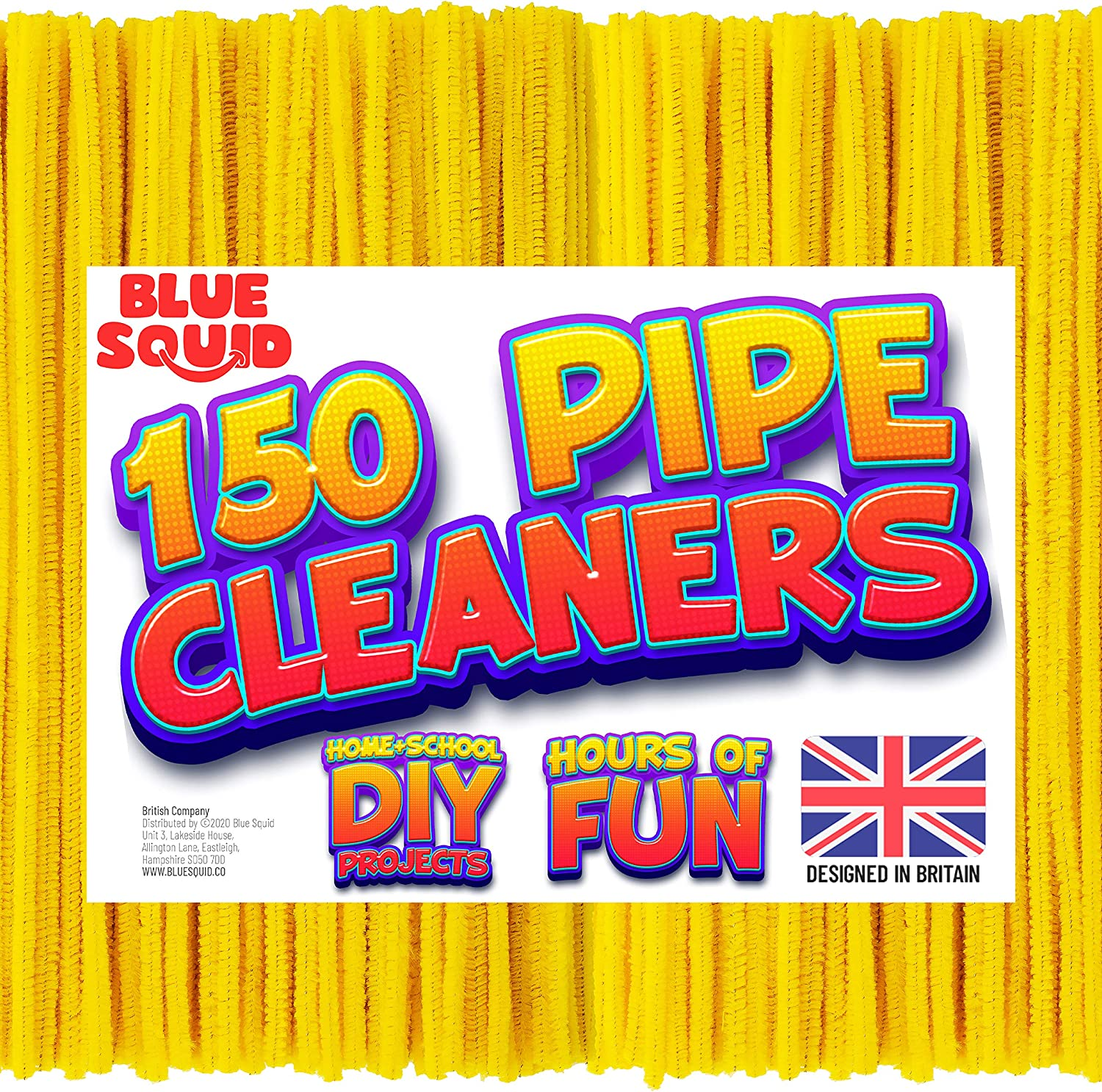 Pipe Cleaners Craft Chenille Stems Extra Long Pieces 150 Pcs Yellow Chenille Cleaners DIY Art /& Craft Projects Yellow Pipe Cleaners Sparkle Crafting Colors Kids Fuzzy Sticks Crafts