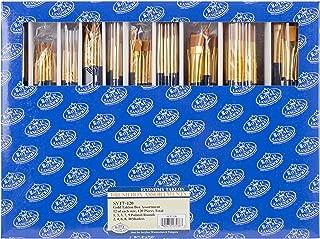 Royal & Langnickel SVT7-120 Classroom Assortment Rounds and Flats Golden Taklon Brush, 120-Piece