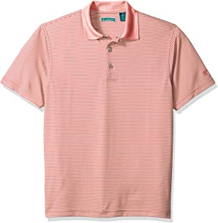 Men's Short Sleeve Stripe Textured Performance Polo Shirt