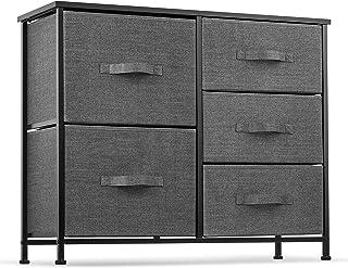 5 Drawer Dresser Organizer Fabric Storage Chest for...