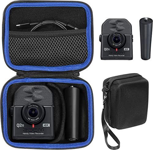 lowest getgear Case for sale Zoom Q2n-4K Handy Video outlet online sale Recorder and Zoom MA-2 Tripod, Organizer for Q2n-4k/H2n Recorder, Tripod, Cord, Flash Memory Card and SSD, Also fit for Mini Trail Game Camera online sale