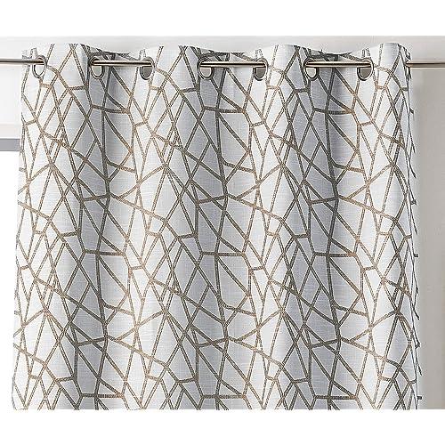 rideaux geometrique. Black Bedroom Furniture Sets. Home Design Ideas