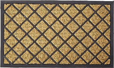 "Rubber-Cal ""My English Garden"" Outdoor Coco Decorative Rubber Entry Mat, 18 x 30-Inch"