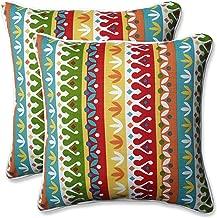 Pillow Perfect Outdoor/Indoor Cotrell Garden Throw Pillow (Set of 2), 18.5
