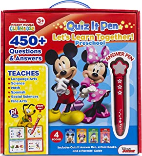 Disney - Mickey and Minnie Mouse Quiz It Pen Preschool Let's Learn Together Set - PI Kids
