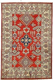 Pasargad DC Pak Kazak Lamb's Wool Rug - 4' X 6',red, Pakistan,D09799