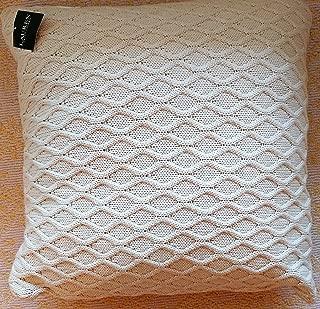 Ralph Lauren Square Knit Throw Pillow Cream/ Beige 18