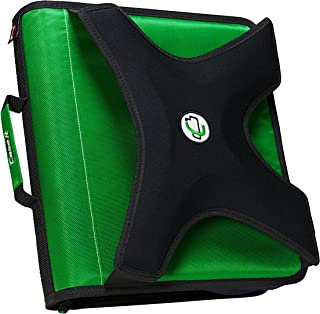 Case-it X-Hugger 2-Inch Round Ring Zipper Binder with Book Holder on Front, GRE, X-351-GRE-18