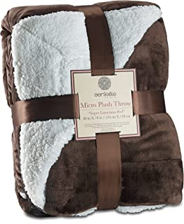 Genteele Sherpa Throw Blanket Super Soft Reversible Ultra Luxurious Plush Blanket (60..
