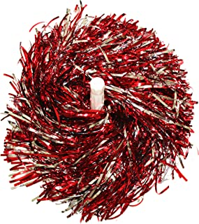 kuugear Pair, Metallic Cheerleading Pom Pom for Cheerleading Squads, Party Costume, Hen Party, Holiday Celebration, Stage Performance, and Sports