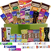 Healthy Snacks Gift Basket Care Package - 32 Health Food Snacking Choices - Quick Ready To Go - For Adults, College Students Gifts, Kids, Toddlers, Birthday Ideas - Say Thank You or Congratulations