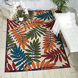 Nourison Aloha Multicolor Indoor/Outdoor Area Rug 7 Feet 10 Inches by 10 Feet 6 Inches, 7'10
