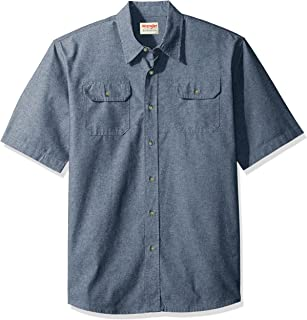 Authentics Men's Short Sleeve Classic Woven Shirt