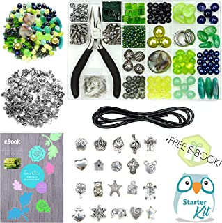 Jewelry Making Supplies Kit Includes Amazing eBook with Easy Step-by-Step Instructions. Stylish Beads, Alloy Charms, Pliers, Wire, Findings. Ideal Craft Beading Set for Adults, Girls, Teens, Beginners