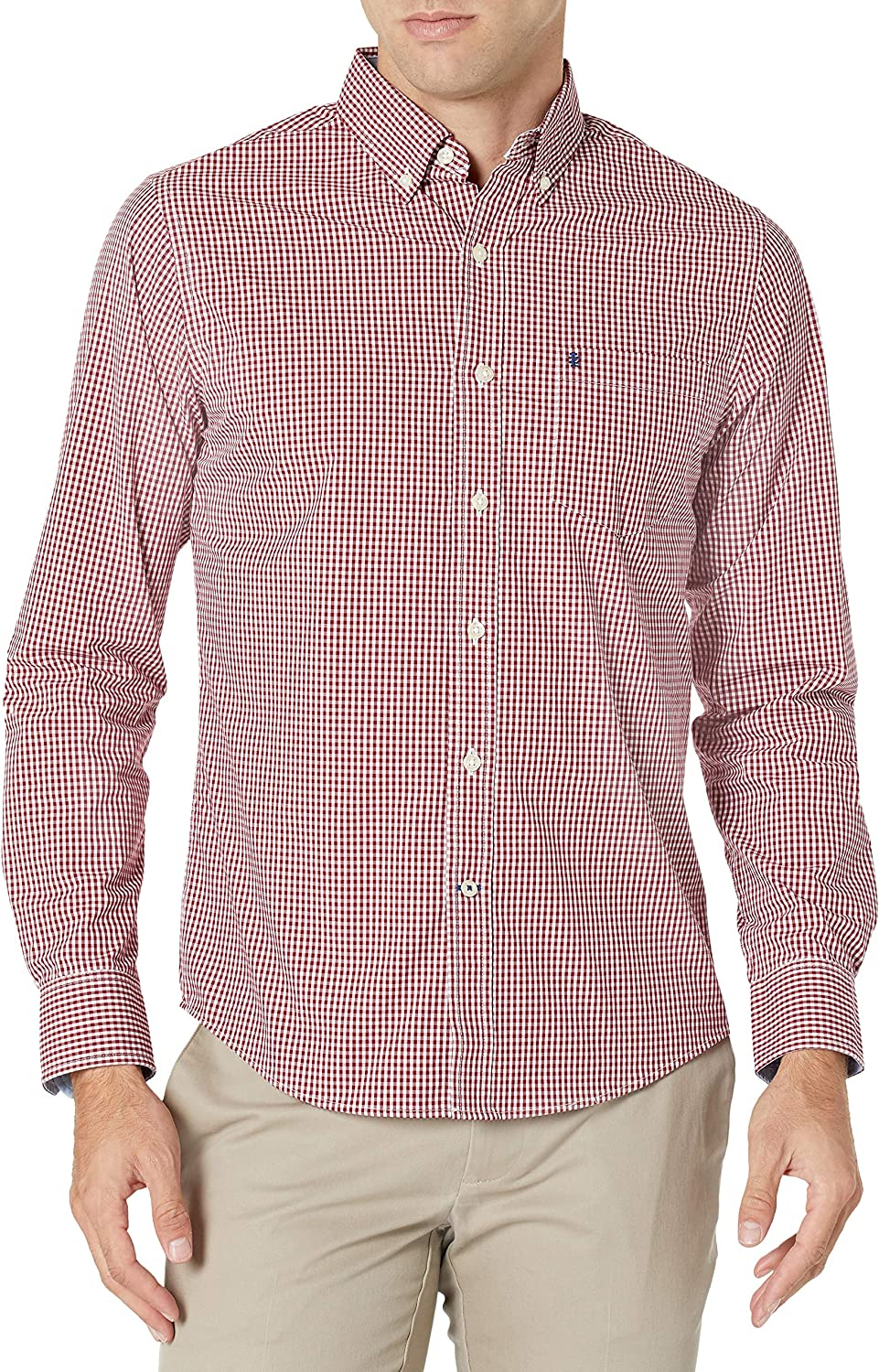 Ranking integrated 1st place IZOD Men's Slim Fit Button Max 42% OFF Long Sleeve Down Stretch Performance