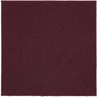 Achim Home Furnishings NXCRPTBU12 Nexus Burgundy 12 inch x 12 inch Self Adhesive Carpet Floor Tile, 12 Tiles/12 Sq', Burgandy