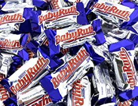 LaetaFood Bag - Nestle Baby Ruth Bursting Peanuts, Rich Caramel Chewy Nougat, Snack Size Treats (Pack of 2 Pounds)