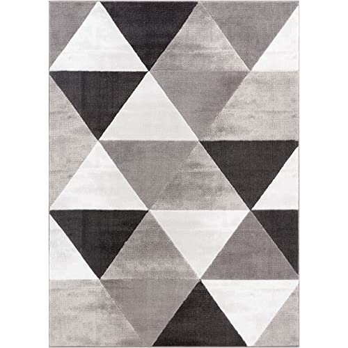 Black And White Geometric Rug Amazon Com