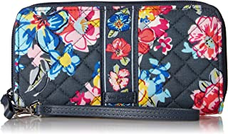 Vera Bradley womens Iconic Rfid Accordion Wristlet, Signature Cotton