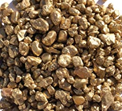 golden decorative gravel