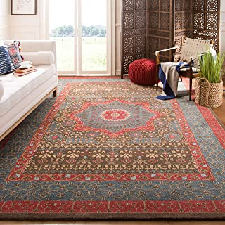 Safavieh Mahal Collection MAH620C Traditional Oriental Navy and Red Area Rug (11' x 16')