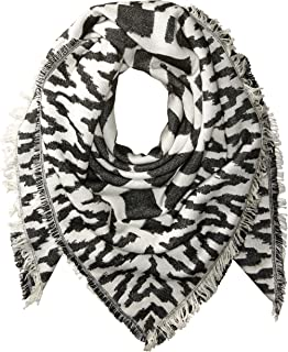 French Connection Women's Multi Geo Patterned Scarf