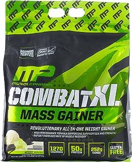 MusclePharm Combat XL Mass Gainer Powder, Weight Gainer Protein Powder, Vanilla, 12 Pounds, 16+ Servings
