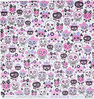 Kit Fls.P/ Scrap Df Caveiras Pink Divertidas C/12 Un, Toke E Crie, Sdf450, Multicolorido, Pacote De 12