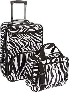 Luggage 2 Piece Printed Luggage Set, Zebra, Medium