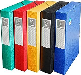 EXACOMPTA 50910E Boite de classement Exabox Dos 60mm Carte lustrée Scotten - A4 Couleurs aléatoires