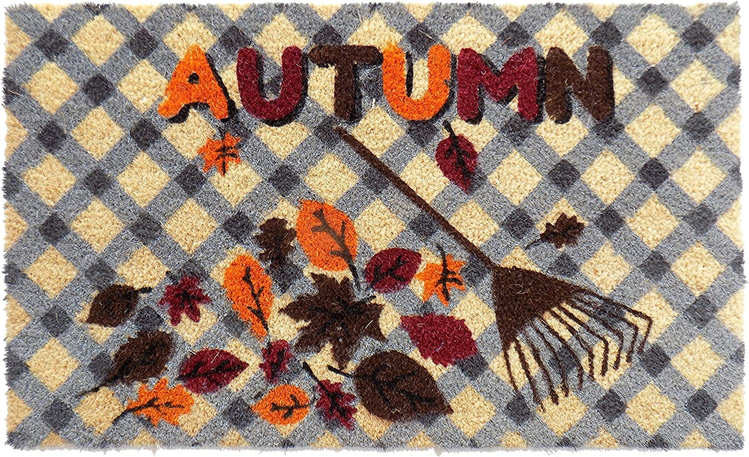 Imports Decor 540PVC Autumn Vinyl Backed Coir Doormat, 30 x 18