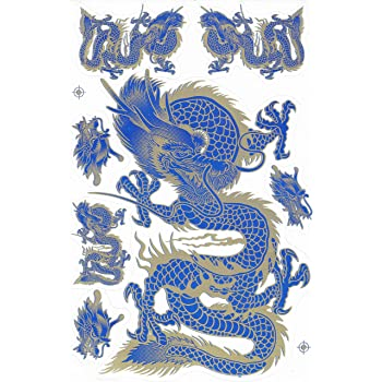 Dragon rouge STICKER Tuning Racing Motocross Autocollant feuille 27 x 18 cm