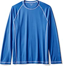 Amazon Essentials Men's Long-Sleeve Loose-Fit Quick-Dry UPF 50 Swim Tee