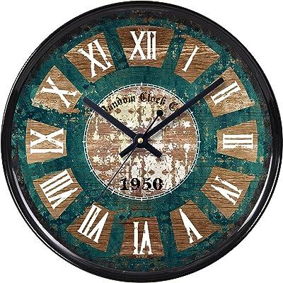Random Smart Round Plastic Wall Clock (28 cm x 28 cm x 5 cm, Black)