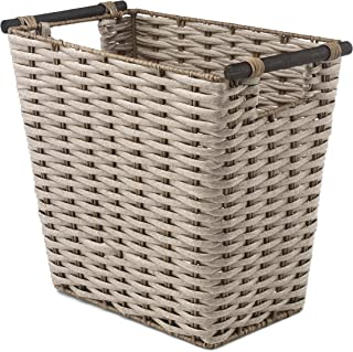 Whitmor Waste Basket with Wood Handles