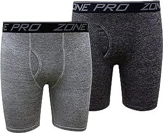 Zone Pro Athletic Men Compression Underwear Shorts - Sporty Performance Stretch Boxer Briefs - 2 Boxerjock Pack Combo
