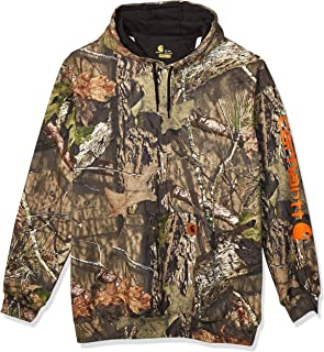 Carhartt Men's Midweight Camo Sleeve Logo Hooded Sweatshirt (Regular and Big & Tall Sizes)